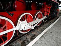 Railway transport details of locomotive, wagon.