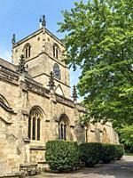 St John the Baptist Parish Church in Summer Knaresborough North Yorkshire England.