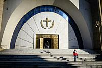 Exterior of a church, Tirana, Albania.