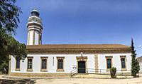 Urban lighthouse building at Mazagon, Costa de la Luz, Huelva region, Andalucia, Spain, Europe.