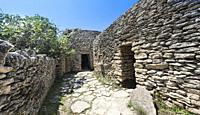 Ancient stone buildings, Bories village, Gordes, Provence-Alpes-Cote dâ. . Azur, France, Europe.