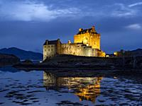 Scotland Isle of Skye Eilean Donan Castle.