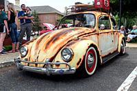 Legendary Volkswagen Beetle, Antique car show , Northeast Philadelphia , PA, USA.