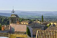 view over the roofs of village Le Barroux, Provence, France, view from Chateau du Barroux above