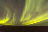 United States, Alaska, Arctic National Wildlife Refuge, Kaktovik, Northern light.