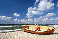 Boat on the beach near the Danish village Saltofte on the isle of Funen.