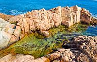 Coastal landscape, Tossa, Girona province, Spain.