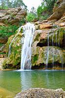 Seven waterfalls of Campdevanol, Girona province, Spain.