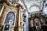 Interior of St. Anne's Church, Warsaw, Poland, Europe.