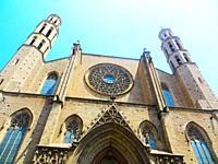Barcelona, Catalunya, Spain. Santa Maria del Mar church.