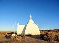 Fuerte San Jose Chapel, Valdes Peninsula, UNESCO World Heritage Site, Chubut Province, Patagonia, Argentina.