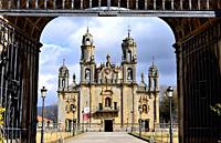 Basilica of Our Lady of Os Milagros, between Baños de Molgas and Maceda, Orense province, Spain.