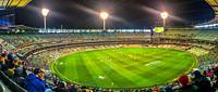 An Australian Footie Game in progress. Melbourne, Australia.