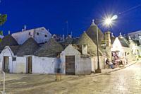 Alberobello by evening in Bari Puglia, Italy.