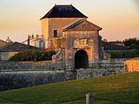 Porte des Campani, Saint-Martin-de-Re, Ile de Re, Charente-Maritime Department, Nouvelle Aquitaine, France.