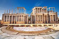 Merida roman theater, Merida, Extremadura, Spain.