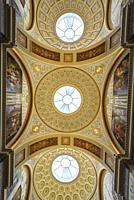 Ceiling in the interior of the Hermitage. Winter Palace, St. Petersburg, Russia.