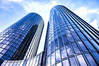 Newly built Z-Towers in Riga, Latvia, Europe.