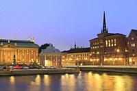 The Old Town at Night, Stockholm, Sweden.