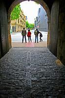 Access door and tunnel, Ciudadela of Pamplona, Navarra, Spain