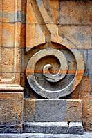 Architectural detail of the Palacio Navarro Tafalla, Pamplona, Navarra, Spain