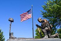 Flathead County Veterans Memorial, Depot Park, Kalispell, Montana.