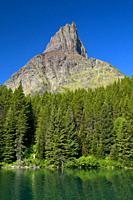 Swiftcurrent Lake to Grinnell Point, Glacier National Park, Montana.