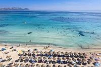Can Picafort beach, Santa Margalida, Majorca, Balearic Islands, Spain
