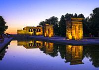 Debod Temple. Madrid, Spain.