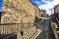 Calzadas de Mallona (Mallona pavement), Bilbao, Biscay, Basque Country, Euskadi, Euskal Herria, Spain, Europe.