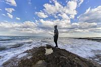 fisherman on the beach, Alcocebre, Castellon, Spain