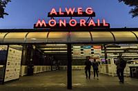 Alweg Monorail in Seattle Center.