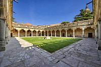 Patio de las Escuelas Menores (Monior Schools), University of Salamanca, Salamanca City, Spain, Europe.