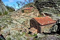 Cabins and mill in the Geopark of Penha Garcia, Castelo Branco, Portugal