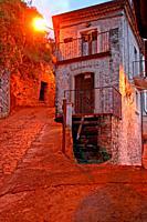 street at sunset, Viggianello, Potenza, Italy