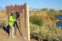 Birding blind, City of Henderson Bird Viewing Preserve, Nevada.