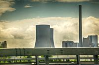 Power Station cooling towers near Hamm on the A-2 in Germany.