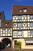 Architecture of Colmar, Haut-Rhin, Grand Est, France.