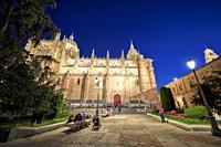 New Cathedral of Salamanca at Evening, Salamanca City, Spain, Europe.