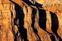 Rock walls of the rock Mondarruego on the Ordesa valley. Ordesa y Monte Perdido national park. Huesca.