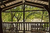 Deck, Pedacito De Ceilo Eco Lodge, San Carlos, Costa Rica.