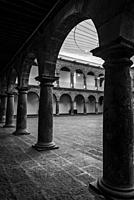 Cloister of San Pedro Art Museum, located in a former 16th-century hospital, Puebla, Mexico.