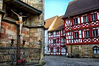 St. Martin church, St.-Martin-Strasse around the church, historic part of Forchheim, Forchheim, Franconian Switzerland, Upper Franconia, Franconia, Ba...