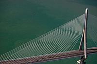 Puente de la Constitución de 1812, Cádiz, Spain - Aerial