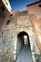 Muslim gate in the town wall. Ibiza town, Balearic Islands, Spain.