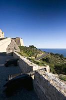 Cannons. Baluarte de Sant Jaume (Sant Jaume Bulwark). Ibiza town, Balearic Islands, Spain.