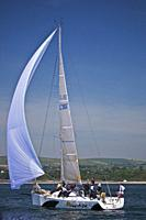 "Ireland, Wicklow Arklow, Ferrybank, """"Another Adventure"""", competing in the Met Masts Sailing Race 31/05/09."