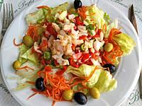 Salad with codfish.
