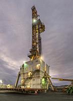 Drilling Rig, Hverahlidarvirkjun Geothermal Power Plant, Iceland.