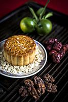 gourmet traditional chinese festive mooncake pastry dessert.